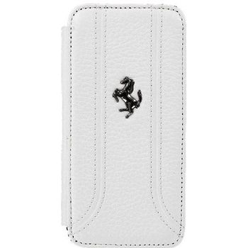 Ferrari Folio kožené pouzdro pro iPhone 5, bílé