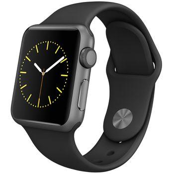 Apple Watch Sport 38mm, šedé, černý pásek