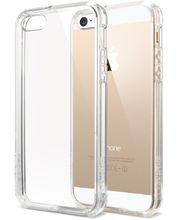 Spigen pevné pouzdro Ultra Hybrid pro iPhone 5/5S/SE, průhledná
