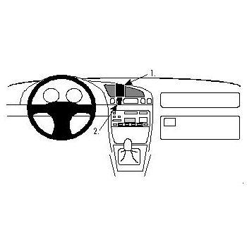 Brodit ProClip pro Ford Fiesta 96-02, Puma 97-01, Courier 96-02, Mazda 121 96-02, na střed