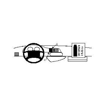 Brodit ProClip montážní konzole pro Citroen Jumpy/Peugeot Expert/Fiat Scudo 97-06, na střed