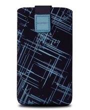 Fixed pouzdro Velvet s motivem Blue Stripes, velikost 5XL, modrá