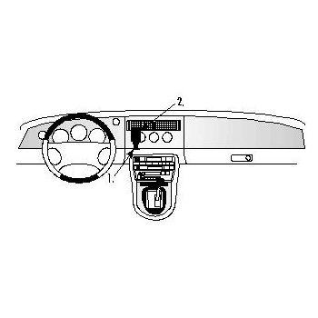 Brodit ProClip montážní konzole pro Jaguar XK8 / XKR 97-06/XK-Series 97-06, na střed