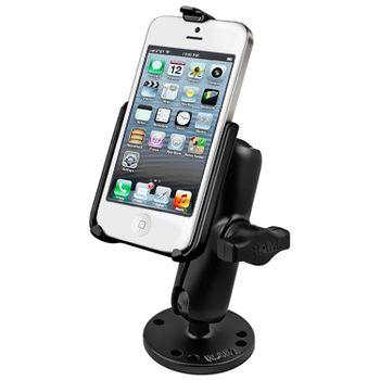 RAM Mounts držák na iPhone 5 a 5S do auta na palubní desku, skútr, atd. na šroubky nebo vruty, AMPS, plast, sestava RAP-B-138-AP11U