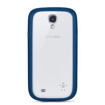 Belkin TPU / PC dvojmateriálové pouzdro pro Samsung Galaxy S4, modré / průhledné