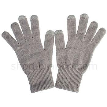 Zimní rukavice pro ovládání kapacitních displejů (šedé)
