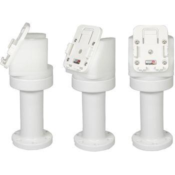 Brodit sestava otočného montážního podstavce a MultiMove clipu, výška 165 mm, sklon 60°, bílý, (216632)