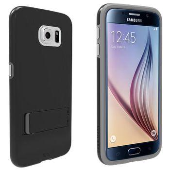 Case Mate ochranné pouzdro Tough Stand pro Samsung Galaxy S6, černo-stříbrná
