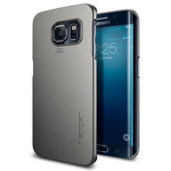 Spigen kryt Thin Fit pro Samsung Galaxy S6 edge, kovově šedá