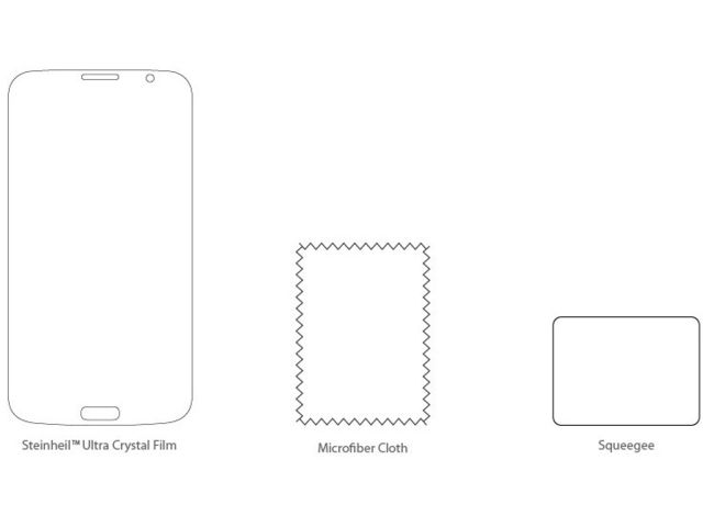 obsah balení Spigen Crystal fólie pro Samsung Galaxy Mega 6.3