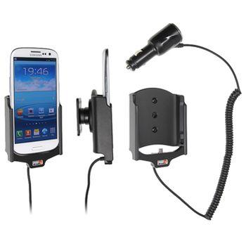 Brodit držák do auta na Samsung Galaxy S III i9300 bez pouzdra, s nabíjením z cig. zapalovače