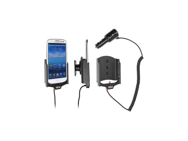 obsah balení Brodit držák do auta pro Samsung Galaxy S III i9300 s nabíjením + adaptér pro snadné odebrání držáku z proclipu