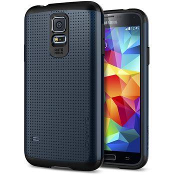 Spigen pevné pouzdro Slim Armor Metal slate pro Samsung Galaxy S5, kovově modrá