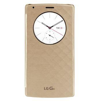 LG vyměnný kryt s flipem a bezdr nabíjením QuickCircle CFR-100 pro LG G4, zlatý