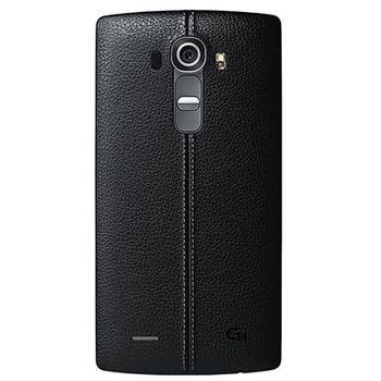 LG výměnný kožený zadní kryt CPR-110 pro LG G4, černý