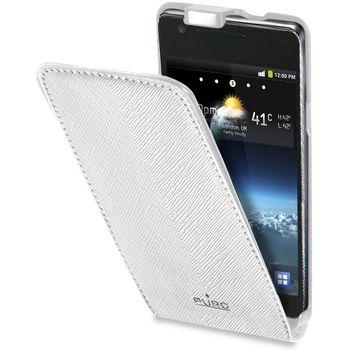 PURO pouzdro s vertikálním flipem pro Samsung Galaxy i9100 S2 - bílá