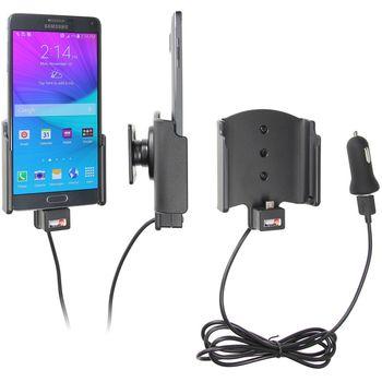 Brodit držák do auta na Samsung Galaxy Note 4 bez pouzdra, s nabíjením z cig. zapalovače/USB